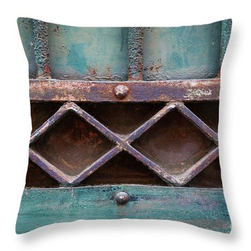 Throw Pillow featuring the photograph Old Gate Geometric Detail by Elena Elisseeva