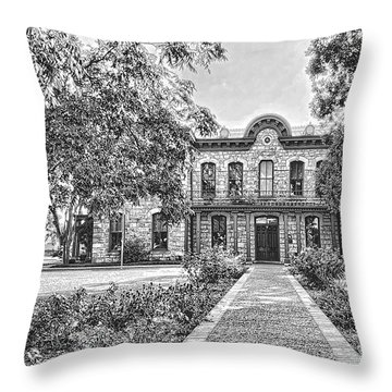 Old Gillespie County Courthouse Throw Pillow