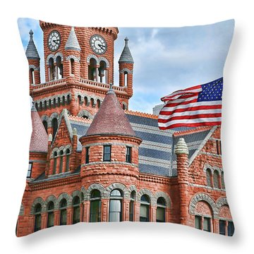 Old Glory And Old Red Throw Pillow