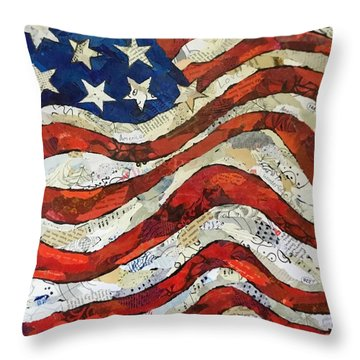 Old Glory II Throw Pillow