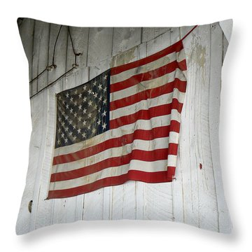 Old Glory Throw Pillow by Laurel Powell