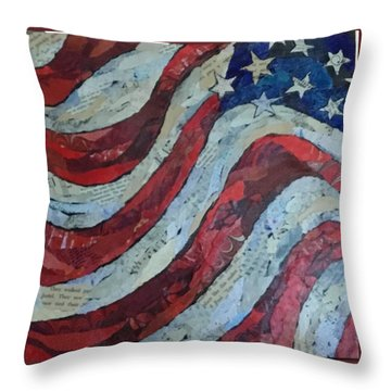 Old Glory Throw Pillow