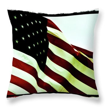 Old Glory Throw Pillow by Scott Pellegrin