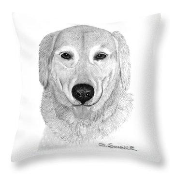 Old Golden Throw Pillow