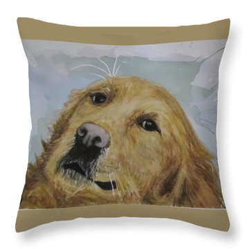 Old Golden Retriver Throw Pillow