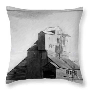 Old Grain Elevator Throw Pillow