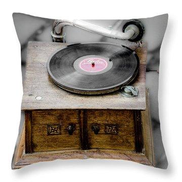 Old Gramophone Throw Pillow