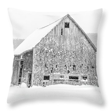 Old Grantham Barns Winter Throw Pillow