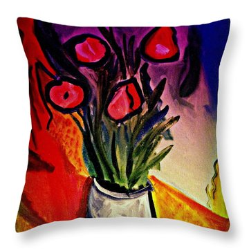 Old Gray Pot Throw Pillow