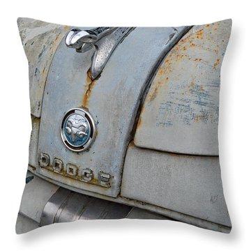 Old Gray Ram Throw Pillow