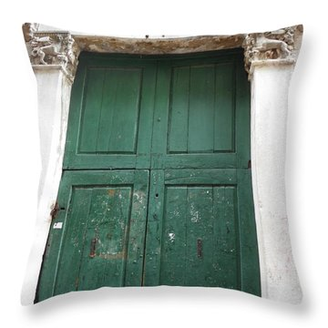 Old Green Gate Throw Pillow