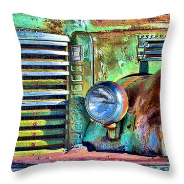 Old Greenie  Throw Pillow