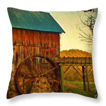Old Gristmill  Throw Pillow