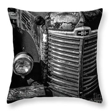 Old Gritty Rusty Truck Stowe Vermont Throw Pillow