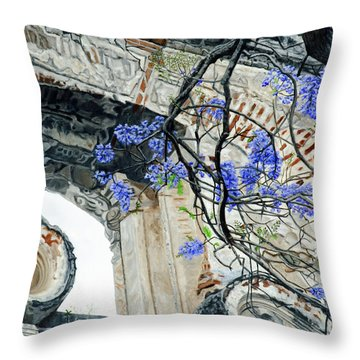 Old Growth Wisteria Throw Pillow