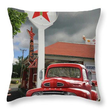 Throw Pillow featuring the photograph Old Guys Rule by Lori Deiter