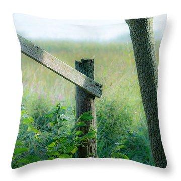 Old Hand Rail Throw Pillow