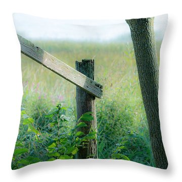 Old Hand Rail Throw Pillow