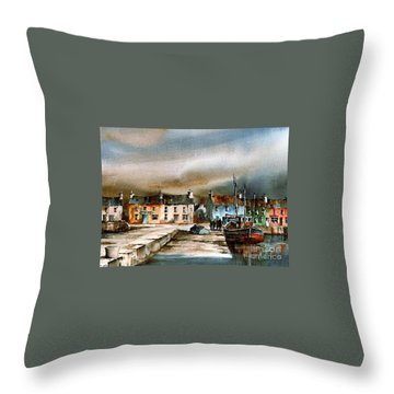 Old Harbour Dingle, Kerry Throw Pillow