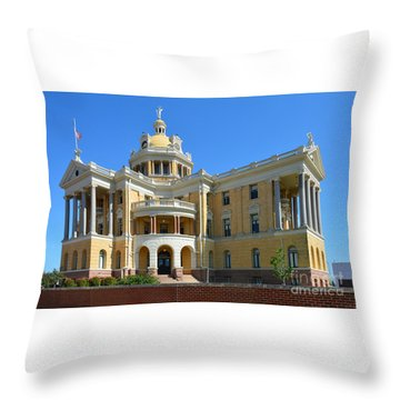 Old Harrison County Courthouse Throw Pillow