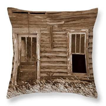 Old Home In The Ozarks Throw Pillow by Marty Koch