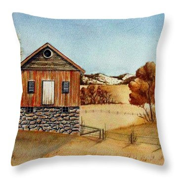 Old Homestead Throw Pillow by Jimmy Smith