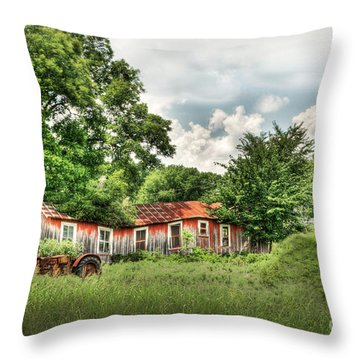 Old Homestead Throw Pillow by Tamyra Ayles