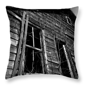 Old House Throw Pillow by Amanda Barcon