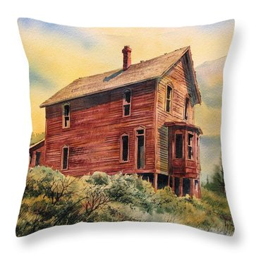 Old House Animas Forks Colorado Throw Pillow by Kevin Heaney