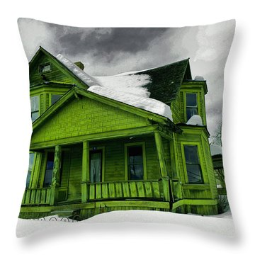 Throw Pillow featuring the photograph Old House In Roslyn Washington by Jeff Swan