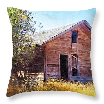 Throw Pillow featuring the photograph Old House by Susan Kinney