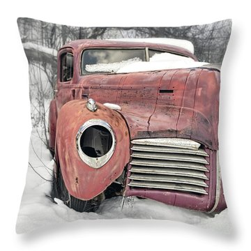 Throw Pillow featuring the photograph Old Hudson Red Square by Edward Fielding