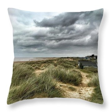 Old Hunstanton Beach, North #norfolk Throw Pillow