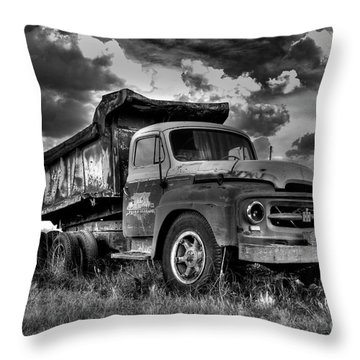 Old International #2 - Bw Throw Pillow