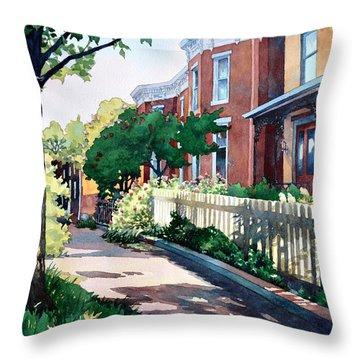 Old Iron Porch Throw Pillow