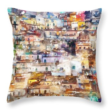 Old Italy Throw Pillow by Shirley Stalter