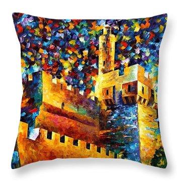 Old Jerusalem Throw Pillow by Leonid Afremov