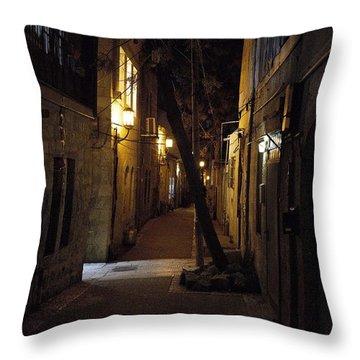 Old Jerusalem Throw Pillow by Shlomo Zangilevitch