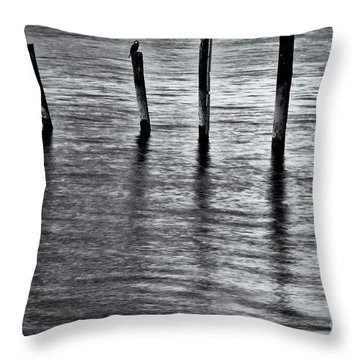 Throw Pillow featuring the photograph Old Jetty - S by Werner Padarin