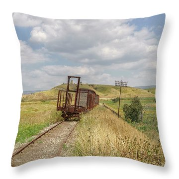 Jezre'el Valley Old Railway Station Throw Pillow