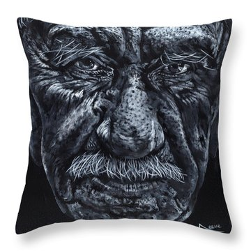 Throw Pillow featuring the painting Old Joe by John Neeve