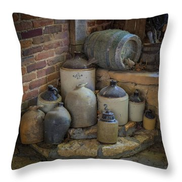 Old Jugs Color - Dsc08891 Throw Pillow