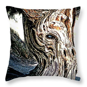 Throw Pillow featuring the digital art Old Juniper Mule Tree by Merton Allen