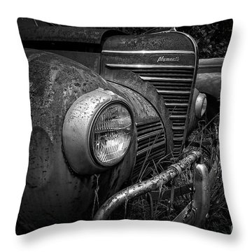 Old Junkers Black And White Throw Pillow