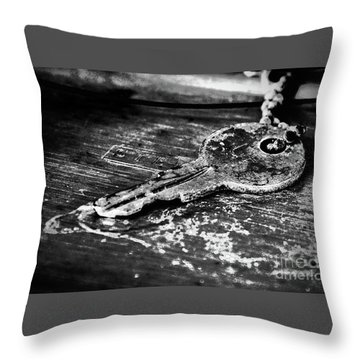 Old Key Throw Pillow