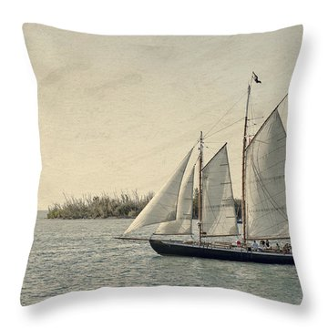 Old Key West Sailing Throw Pillow