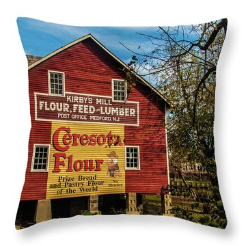 Old Kirby's Flower Mill Throw Pillow
