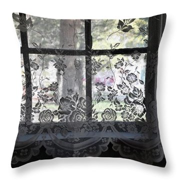 Old Lace And Old Times Throw Pillow