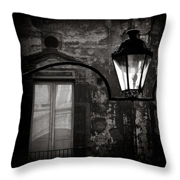 Old Lamp Throw Pillow by Dave Bowman