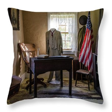 Throw Pillow featuring the photograph Old Library by Ann Bridges